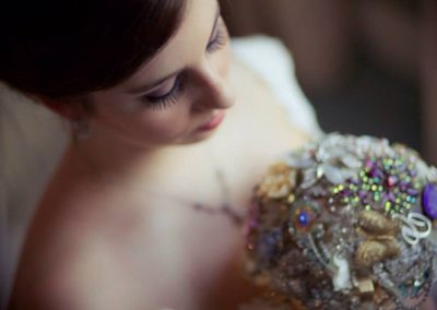 "The Beautiful ""Cera"" Mixed Crystal and Cobalt Brooch Bouquet"